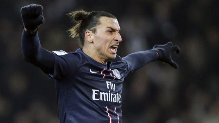 Zlatan Ibrahomovic tient l'attaque du PSG entre ses mains (KENZO TRIBOUILLARD / AFP)