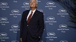 Jean-Loup Dabadie, lors du 70e anniversaire du festival de Cannes, à Paris, le 20 septembre 2016. (PHILIPPE LOPEZ / AFP)