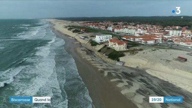 Environnement : l'érosion de la dune de Biscarrosse menace des bâtiments emblématiques