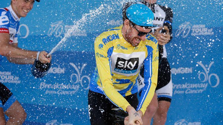 Bradley Wiggins heureux après sa victoire sur le Tour de Califronie (EZRA SHAW / GETTY IMAGES NORTH AMERICA)