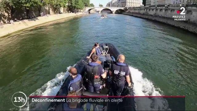 Déconfinement : les quais de la Seine sous surveillance