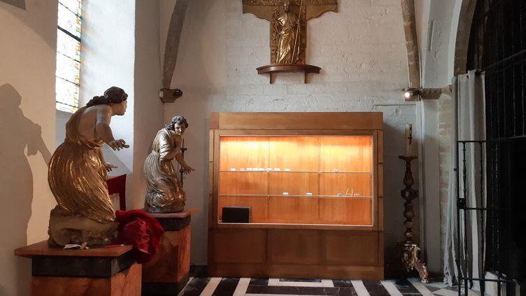 Le trésor de la cathédrale d'Oloron-Sainte-Marie a été la cible d'un cambriolage à la voiture-bélier, dans la nuit du dimanche 3 au lundi 4 novembre 2019. (MAXPPP)