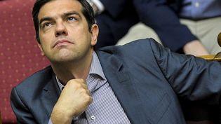 Le Premier ministre grec, Alexis Tsipras, au parlement grec à Athènes -Grèce), le 10 juillet 2015. (ANDREAS SOLARO / AFP)