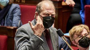 Le ministre de la Justice, Eric Dupond-Moretti,le 4 mai 2021, à l'Assemblée nationale. (ANTONIN BURAT / HANS LUCAS / AFP)