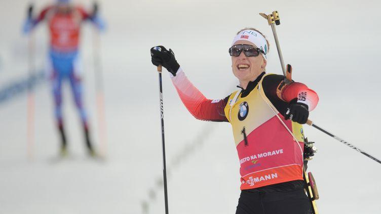 Cinquième succès de la saison pour Johannes Boe (MICHAL CIZEK / AFP)