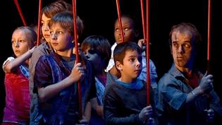 Répétitions du nouveau spectacle de la Cie Image Aiguë au Théâtre de la Croix-Rousse à Lyon  (Culturebox - capture d'écran)