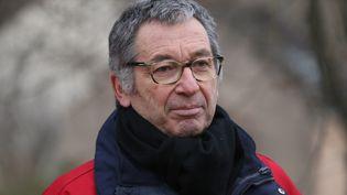 Eric Mouzin, le père d'Estelle disparue en 2003en Seine-et-Marne, lors d'une marche silencieuse organisée le 7 janvier 2017. (MAXPPP)