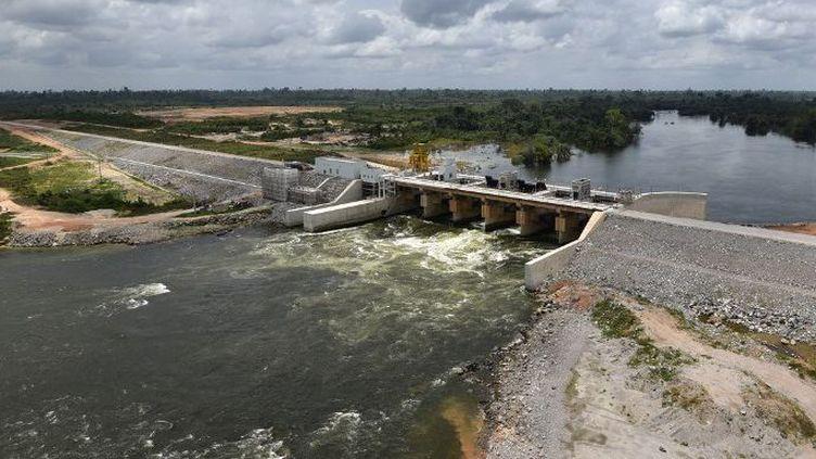Le barrage de Soubré sur le fleuve Sassandra en Côte d'Ivoire (photo prise le 6 mars 2017)