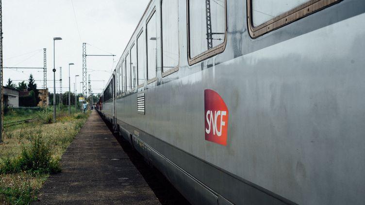 Un train circulant entre Toulouse et Paris, en 2014. (DELPHINE LEFEBVRE / HANS LUCAS / AFP)