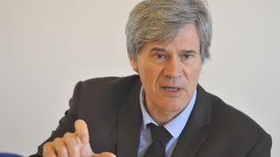 Stéphane Le Foll, ministre de l'Agriculture, à Savigné-L'Evêque (Sarthe), le 5 avril 2014. (CITIZENSIDE / FRANÇOIS NAVARRO / AFP)