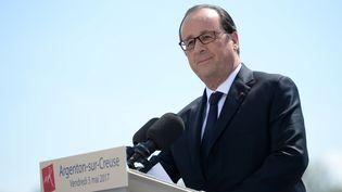 François Hollande à Argenton-sur-Creuse(Indre), le 5 mai 2017. (GUILLAUME SOUVANT / AFP)