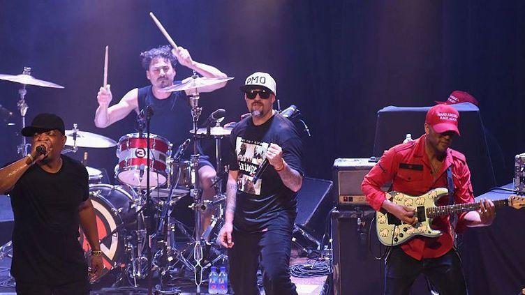 Prophets of Rage (au premier plan Chuck D, B-Real et Tom Morello).  (Jeff Kravitz / Getty Images)