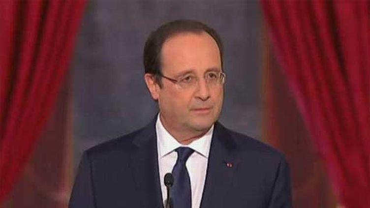 (La conférence de presse de François Hollande - 5 février 2015 © capture écran France 2)