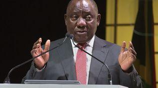 Le président sud-africain Cyril Ramaphosa, le 5 février 2019. (RODGER BOSCH / AFP)
