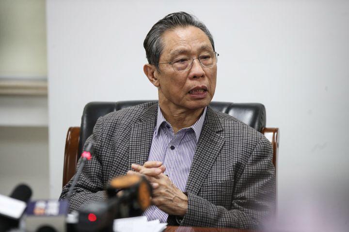 Le pneumologue chinoisZhong Nanshan, lors d'une conférence de presse à Pékin (Chine), le 20 janvier 2020. (STR / AFP)