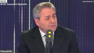 Le président de la région Hauts-de-France, Xavier Bertrand, invité mercredi 28 février de franceinfo. (RADIO FRANCE / FRANCE INFO)