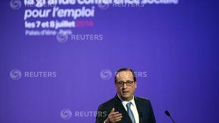 (François Hollande ouvre la troisième conférence sociale © REUTERS/Benoit Tessier)