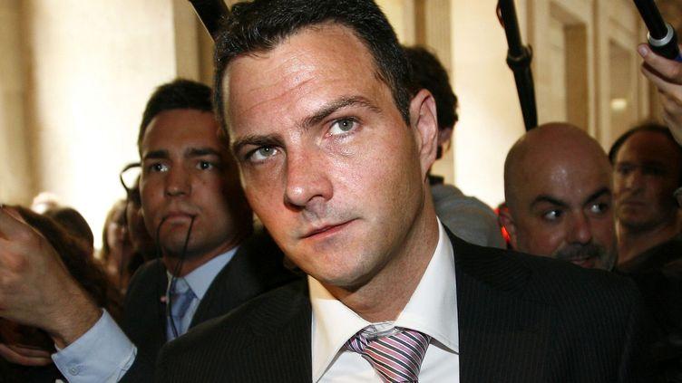 Jérôme Kerviel au palais de justice de Paris, le 8 juin 2010. Le trader avait été condamné à cinq ans de prison, dont trois ferme. (VINCENT ISORE / MAXPPP )