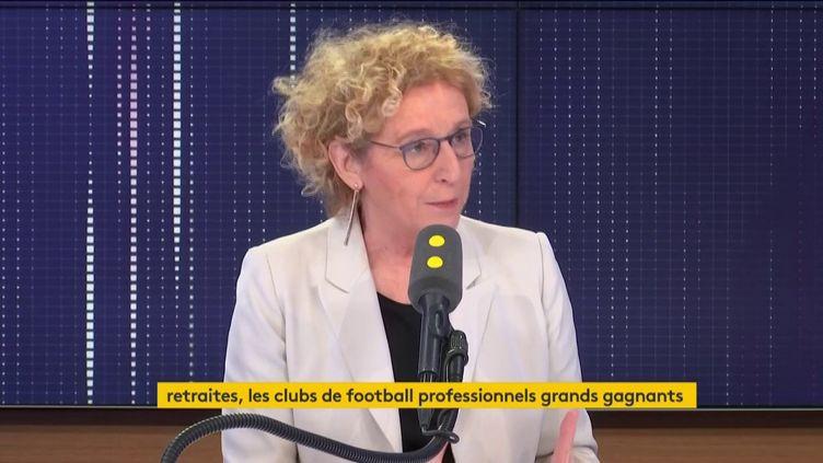 Muriel pénicaud était l'invitée du 8h30 de franceinfo mercredi 15 janvier 2020 (Capture écran). (FRANCEINFO)