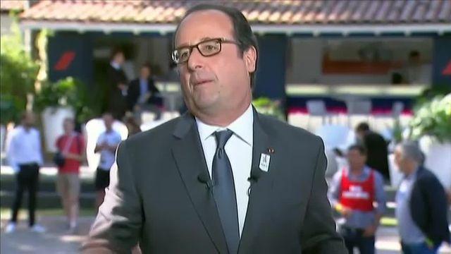 """""""Nous, on peut montrer l'exemple"""", lance Hollande pour défendre la candidature de Paris en 2024"""
