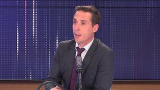 Jean-Baptiste Djebbari, ministre délégué chargé des transports, était l'invité de franceinfo le 14 septembre 2021. (FRANCEINFO / RADIO FRANCE)