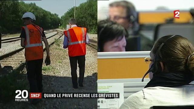 SNCF : quand le privé recense les grévistes