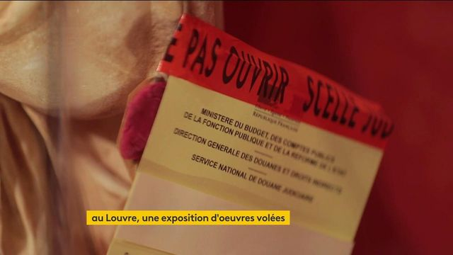 Culture : une exposition d'œuvres d'art volées au musée du Louvre