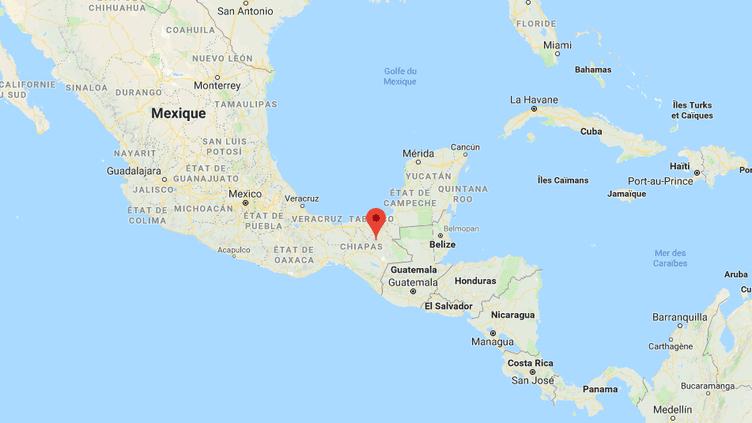 Un journaliste a été abattu en sortant son domicile àYajalon, dans l'Etat du Chiapas (Mexique), le 21 septembre 2018. (GOOGLE MAPS / FRANCE INFO)