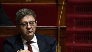 Le leader de La France insoumise Jean-Luc Mélenchon à l'Assemblée nationale, à Paris, le 27 mars 2019. (MARTIN BUREAU / AFP)