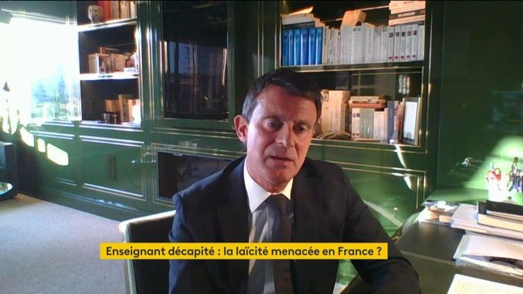 Manuels Valls, invité sur franceinfo samedi 17 octobre (CAPTURE D'ÉCRAN / FRANCINFO)