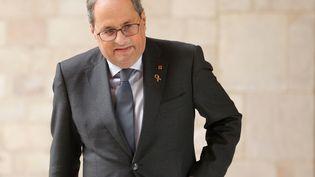 Le président Catalan Quim Torra, le 19 décembre 2019. (PAU BARRENA / AFP)