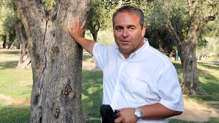 """Xavier Bertrand, le 24 août 2012 à Nice, à l'occasion d'une réunion des """"Amis de Nicolas Sarkozy"""". (VALERY HACHE / AFP)"""