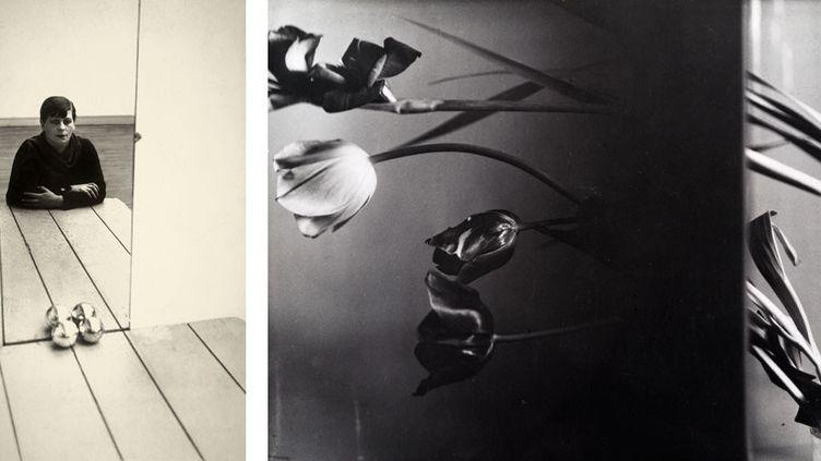 "Florence Henri, à gauche, ""Autoportrait"", 1928, Staatliche Museen zu Berlin, Kunstbibliothek- à droite, ""Composition Nature morte"", vers 1931, Collection particulière, courtesy Archives Florence Henri, Gênes  (Galleria Martini & Ronchetti)"