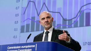 Le commissaire européenPierre Moscovici lors d'une conférence de presse à Bruxelles (Belgique), le 7 novembre 2019. (ARIS OIKONOMOU / AFP)