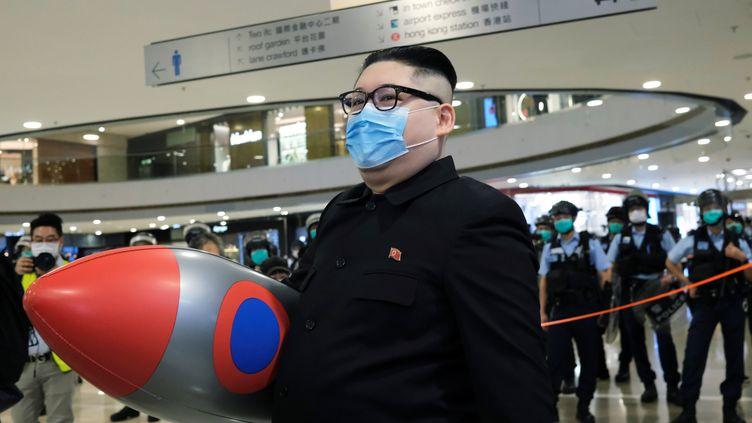 Le dirigeant nord-coréen Kim Jong-un à Hong Kong le 28 avril 2020