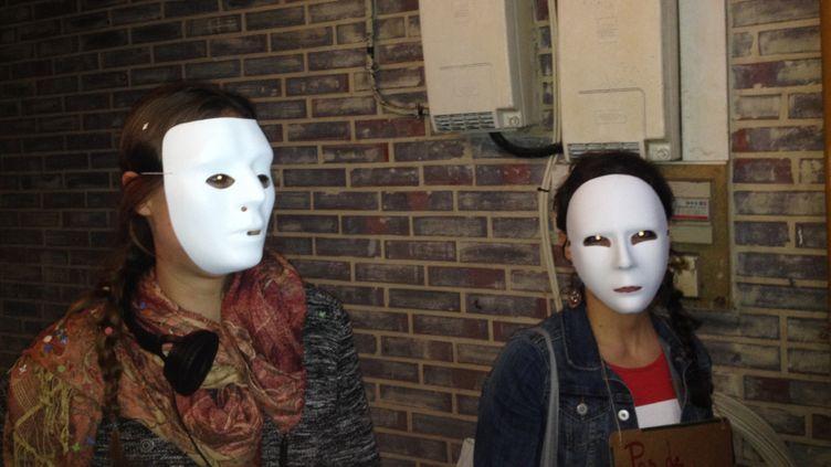 (Jeunes précaires en colère © Nathalie Bourrus -Radio France)