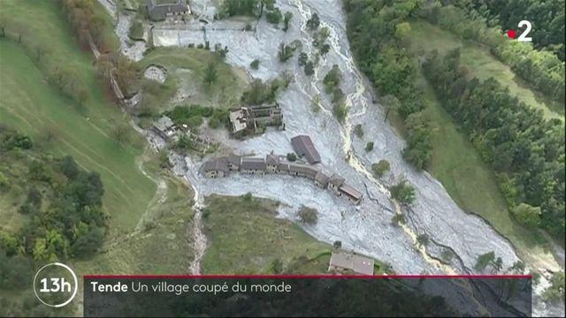 Tende : un village coupé du monde après le passage de la tempête Alex
