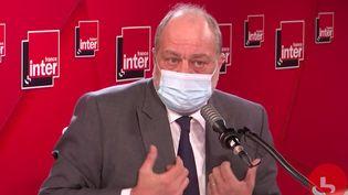 Éric Dupond-Moretti, ministre de la Justice, invité de France Inter le 3 mars 2021. (FRANCE INTER / CAPTURE D'ÉCRAN)