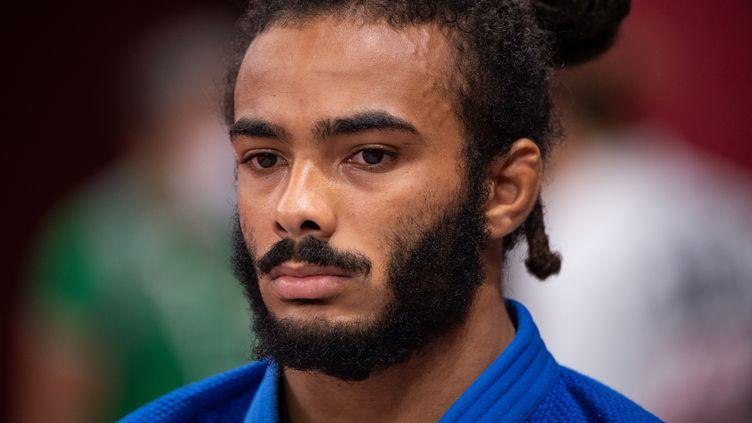 Hélios Latchoumanaya lors des épreuves de judo aux Jeux paralympiques de Tokyo. (YONATHAN KELLERMAN / FRANCE PARALYMPIQUE)