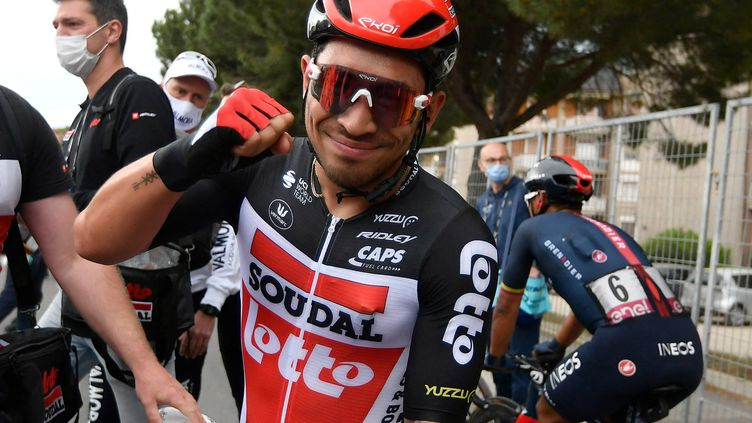 Caleb Ewan a remporté la 7e étape du Giro. (FABIO FERRARI / POOL)
