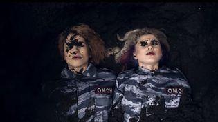 """Capture d'écran du clip des Pussy Riot """"I can't breathe""""  (DR)"""