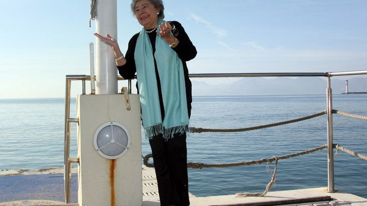 La cantatrice allemandeChrista Ludwigau Midem de Cannes en 2008. (VALERY HACHE / AFP)