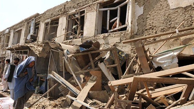 Attentat anti-Otan dans la capitale afghane (© AFP/SHAH MARAI)