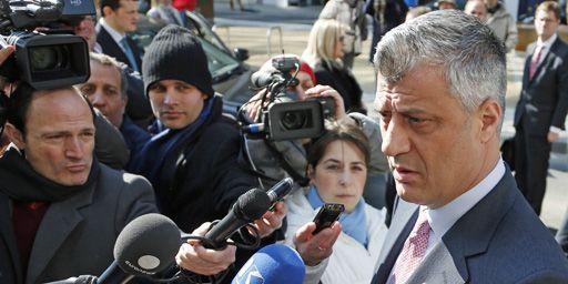 Le Premier ministre kosovar, Hashim Taçhi, le 2 avril 2013 à Bruxelles. (Reuters - François Lenoir)