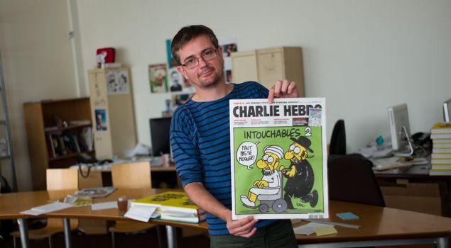 """(Le livre posthume de """"Charb"""", dessinateur satirique et directeur de la publication de Charlie Hebdo, sort ce jeudi en librairie. © MAXPPP)"""