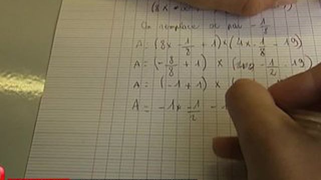 Les maths posent des problèmes à beaucoup de collégiens