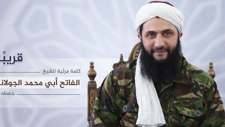 L'image d'Abou Mohammad Al-Jolani, chef du Front Al-Nosra, annonçant la rupture avec Al-Qaïda, diffusée le 28 juillet 2016 par Al-Manara al-Baydaa, l'organe d'information officiel du mouvement. (Al-Manara Al-Baydaa/AFP)