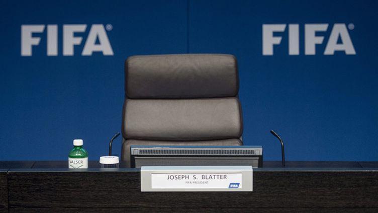 (Sepp Blatter a laissé vacant un siège de président de la Fifa déjà très convoité © MAXPPP)
