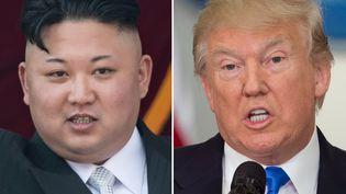 La joute verbale se poursuit entre le leader nord-coréen,Kim Jong-Un, et Donald Trump, le président américain. (SAUL LOEB / AFP)