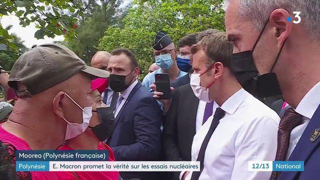 """Polynésie : Emmanuel Macron promet """"vérité et transparence"""" sur les essais nucléaires"""
